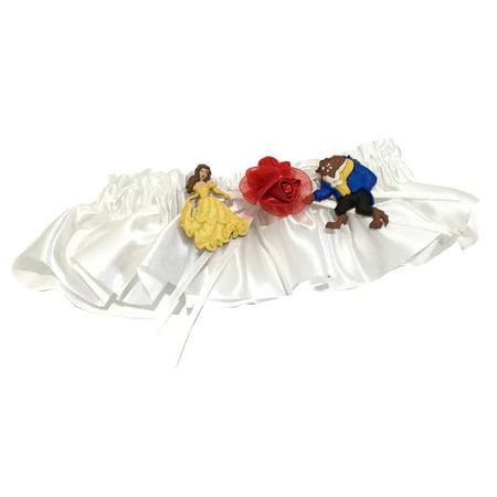 Beauty & The Beast Bridal Wedding Garter Red Rose Keepsake Gift Reception](Beauty And The Beast Bridal Shower)