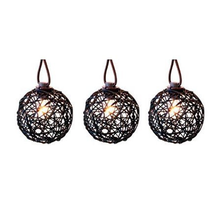 Living Accent C7 Ratton Ball Light Set Clear 9 in. 10 lights