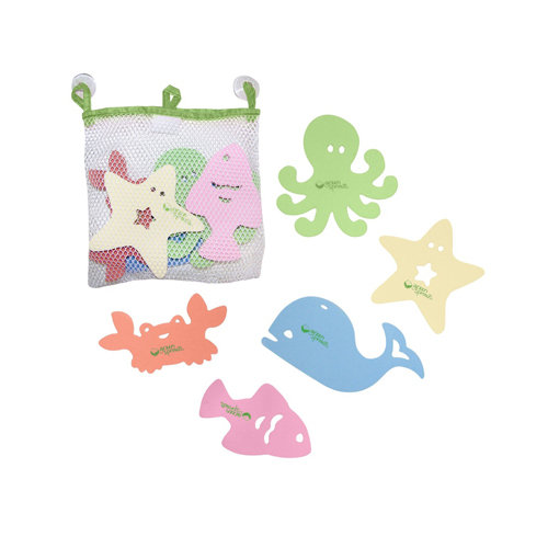 Green Sprouts 1227685 1227685 5-Piece Sea Friends Bath Toy Set