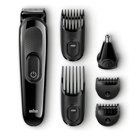 braun multi grooming kit mgk3020 6 in 1 beard and hair trimmer 6 pc. Black Bedroom Furniture Sets. Home Design Ideas