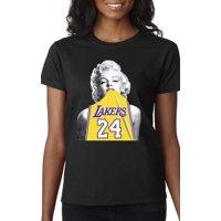 New Way 412 - Women's T-Shirt Marilyn Monroe Lakers 24 Kobe Bryant Jersey Medium White