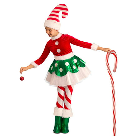 Candy Cane Elf Princess Halloween - Nerd Candy Halloween Costume