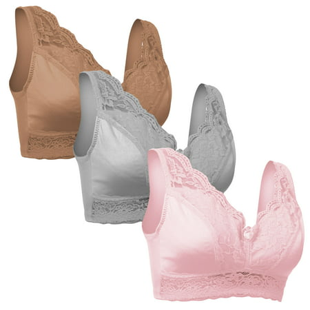 Set of 3 Rhonda Shear Pinup Lace Bras