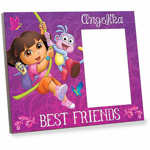 Personalized Dora the Explorer Butterflies and Best Friends Picture Frame