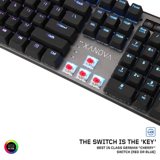 XANOVA MAGNETAR RGB Mechanical Keyboard, Gaming Keyboard with Blue
