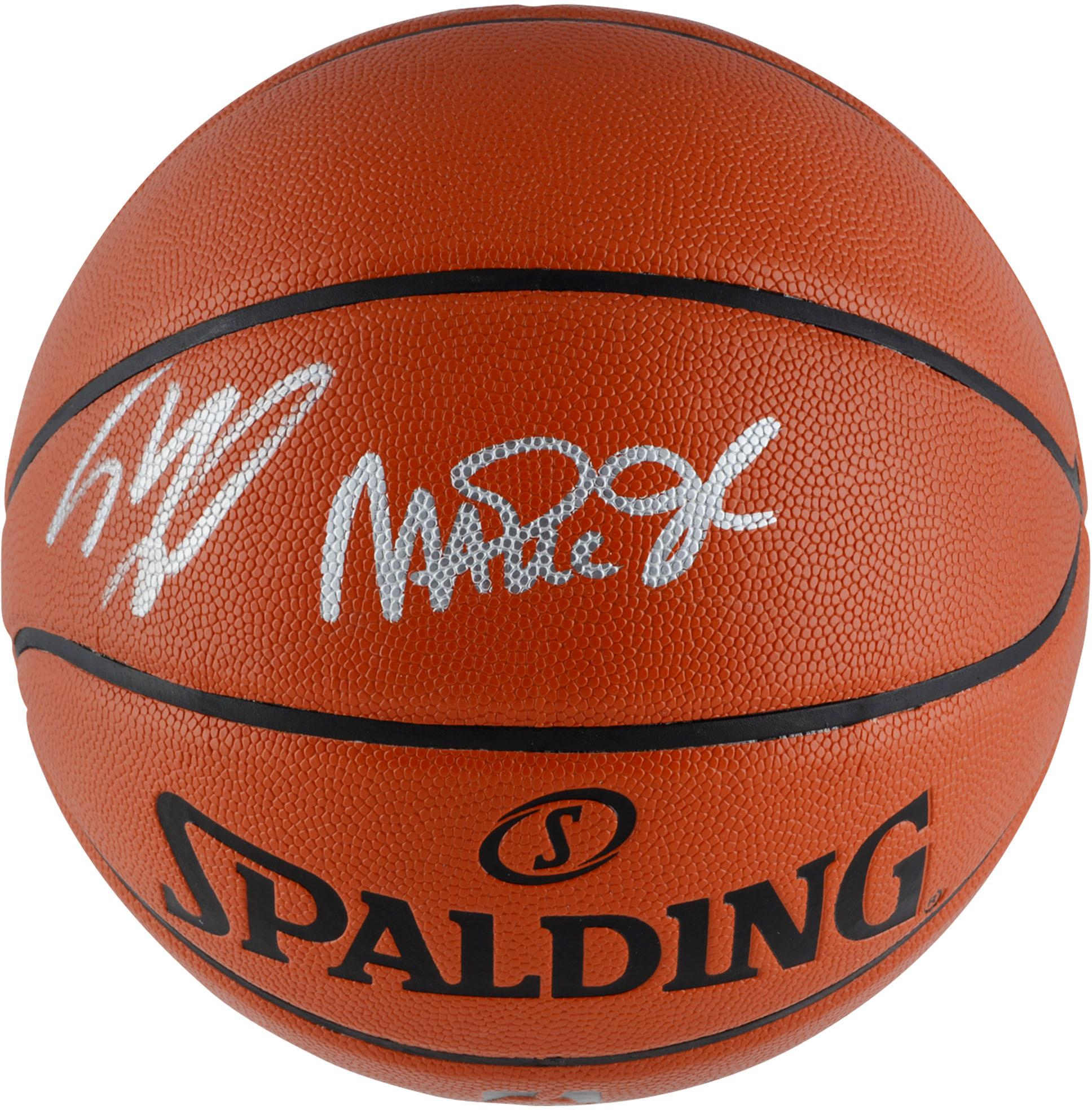 Shaquille O'Neal & Magic Johnson Los Angeles Lakers Dual Signed Indoor/Outdoor Basketball - Fanatics Authentic Certified