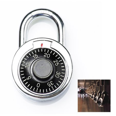 Padlock Bike Lock - Combination Lock Dial Padlock Hardened Steel Locker Gym Bike School Travel Safe
