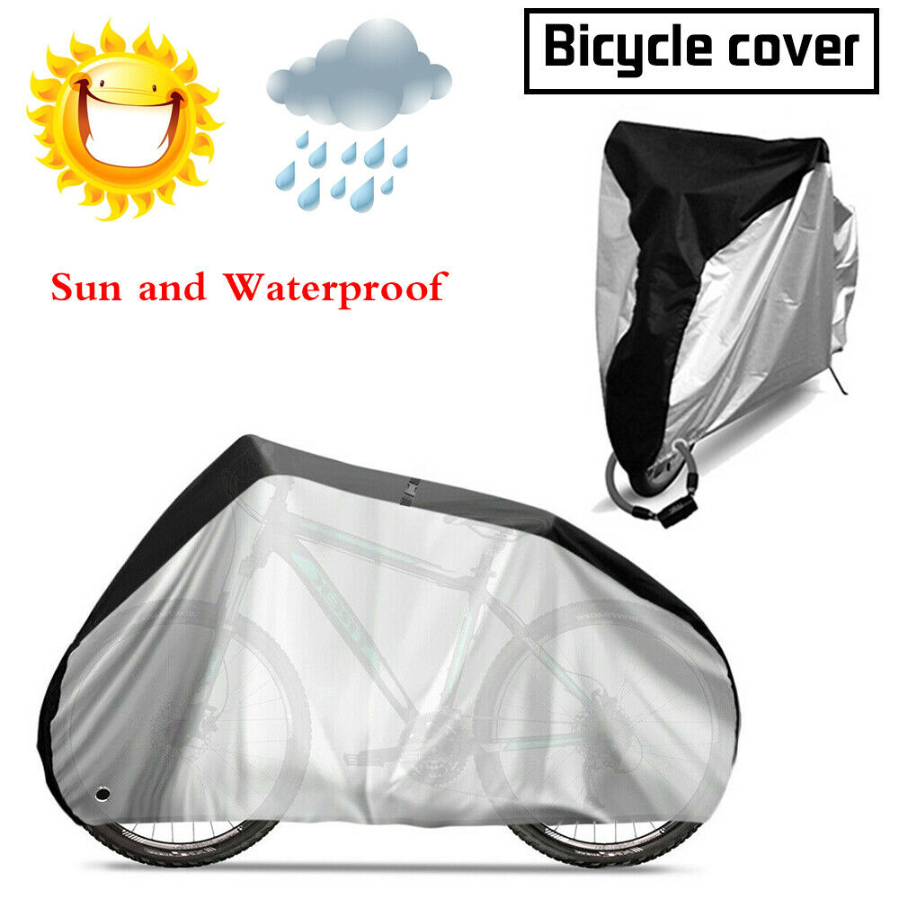 190T Outdoor Waterproof Bicycle Covers Rain Sun UV Dust Wind Proof Bike Cover