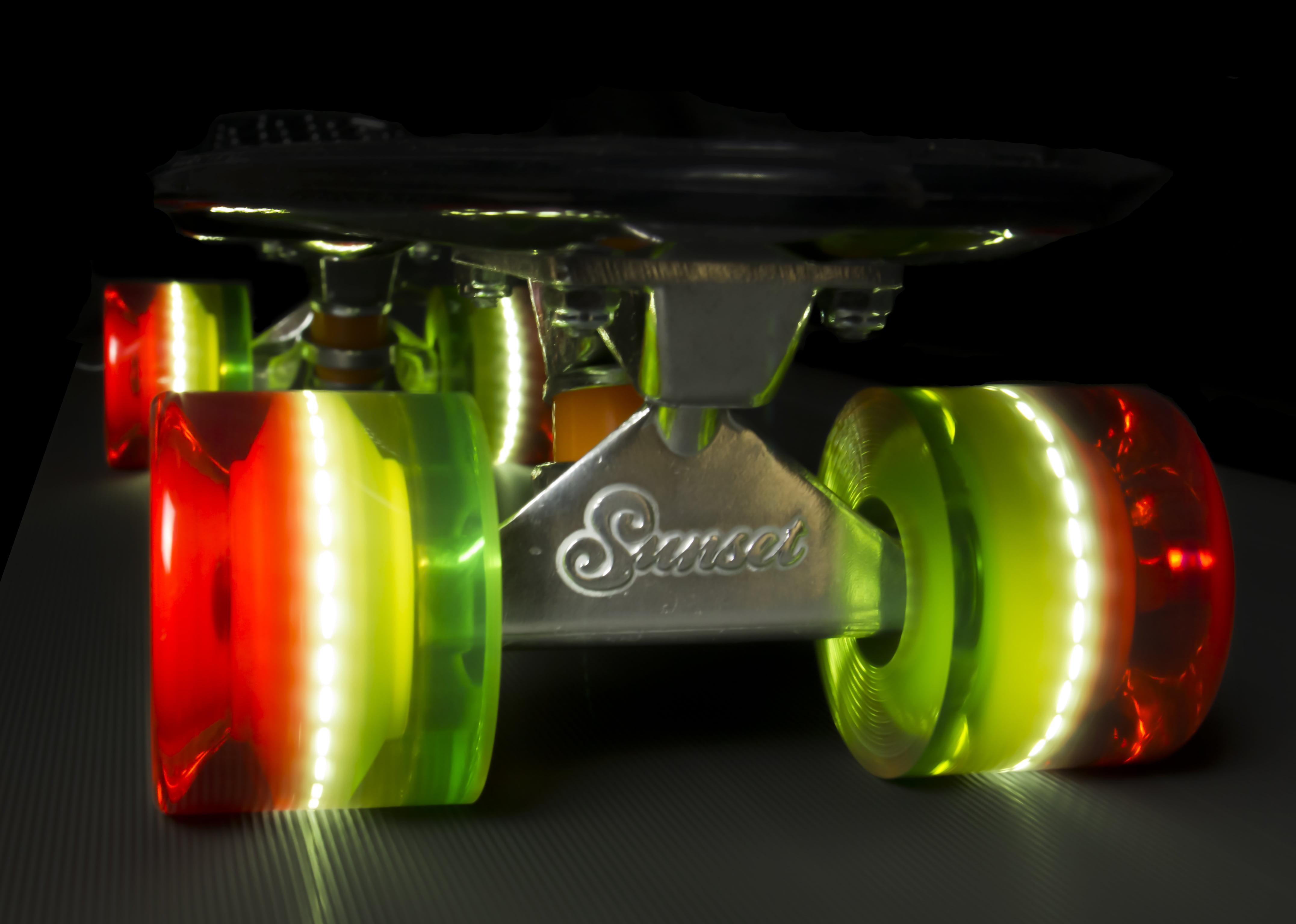SUNSET SKATEBOARDS Rasta 59mm Cruiser Flare Led Wheel and ABEC-7 Bearings  (4-pack) - Walmart.com 1b994a895ae