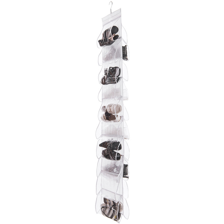 Shoe Organizer For Closets, Oak Leaf 20 Pockets Double Sided Hanging Shoe  Storage Rack