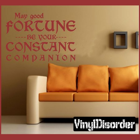 May God Fortune Be Your Constant Companion Life Inspirational Vinyl Wall Decal Sticker Mural Quotes Words In026maygoodiii 36 Inches