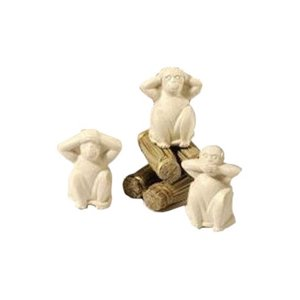Gianna Rose Animal-Shaped Soap, Three Wise Monkeys, 4.4 oz