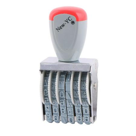 Office Supermarket Rubber 6 Band 0-9 Digital Symbol Numbering Printer Stamp