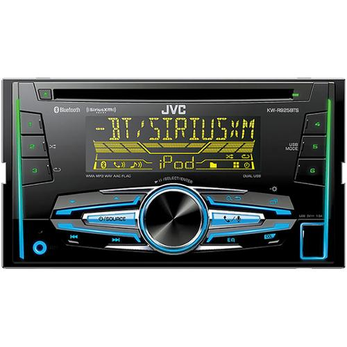 Jvc Kw-r925bts Car Cd/mp3 Player - 88 W Rms - Ipod/iphone Compatible - Double Din - Detachable Faceplate In-dash - Cd-rw - Cd-da, Mp3, Wav, Wma, Flac, Aac - Am, Fm - 18, 6 X Fm, Am Preset (kwr925bts)