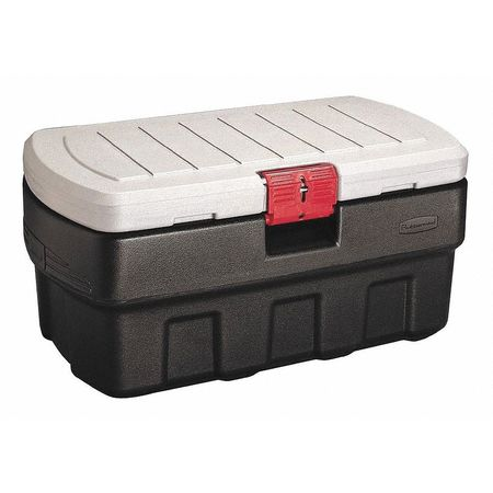 RUBBERMAID Attached Lid Container,4.67 cu ft, 1949208