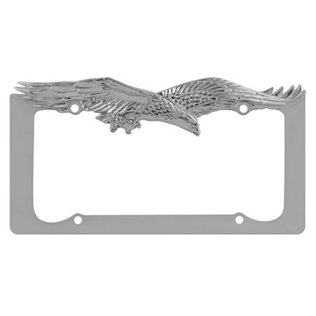 - Eagle License Plate Frame Silver, Custom Decorative License Plate Chrome Frame