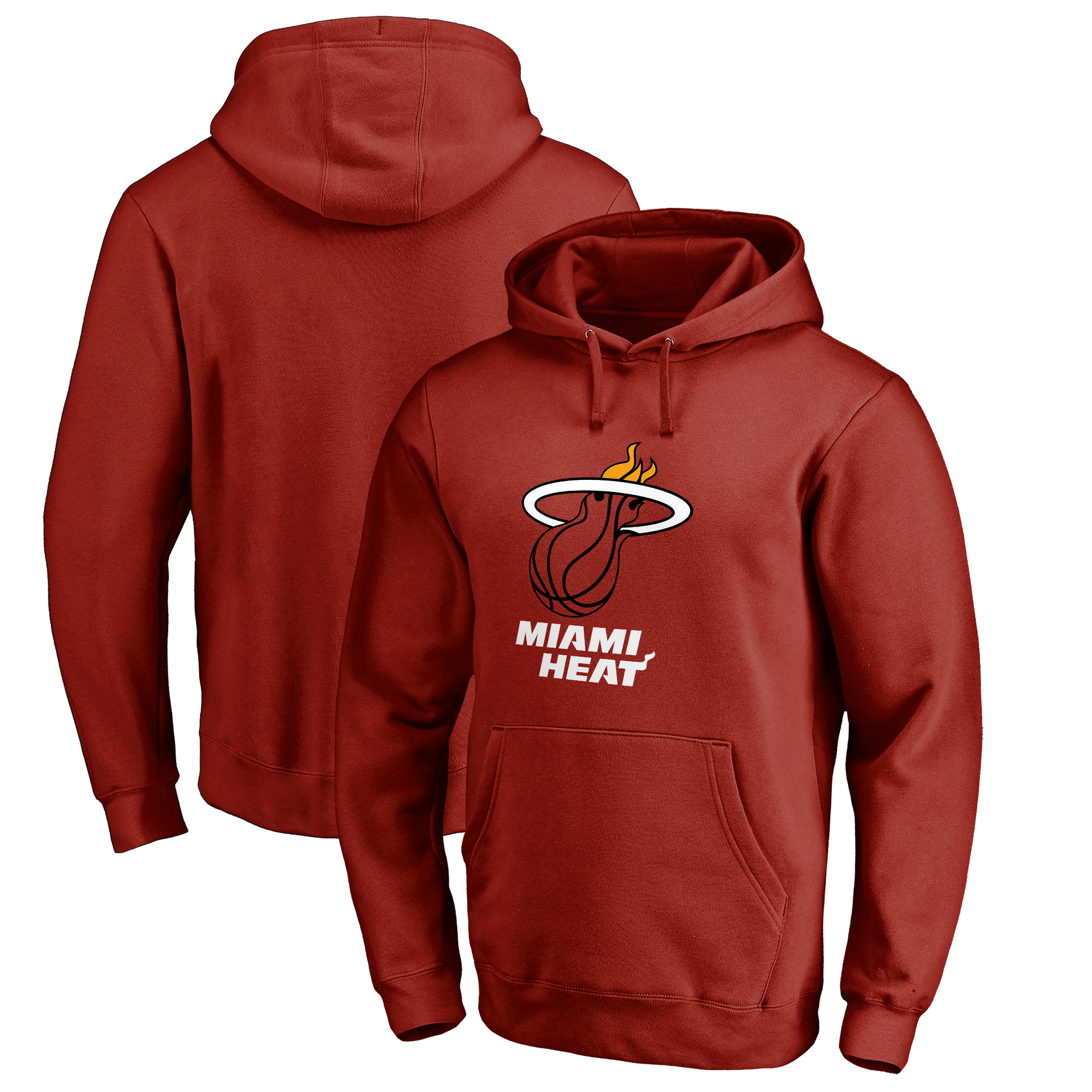 Miami Heat Fanatics Branded Big & Tall Team Primary Logo Pullover Hoodie - Cardinal