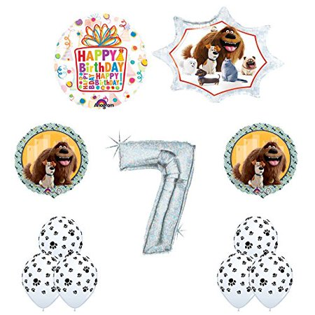 The Secret Life of Pets 7th Holographic Birthday Party Balloon Supply Decorat... - Palace Pets Birthday Party