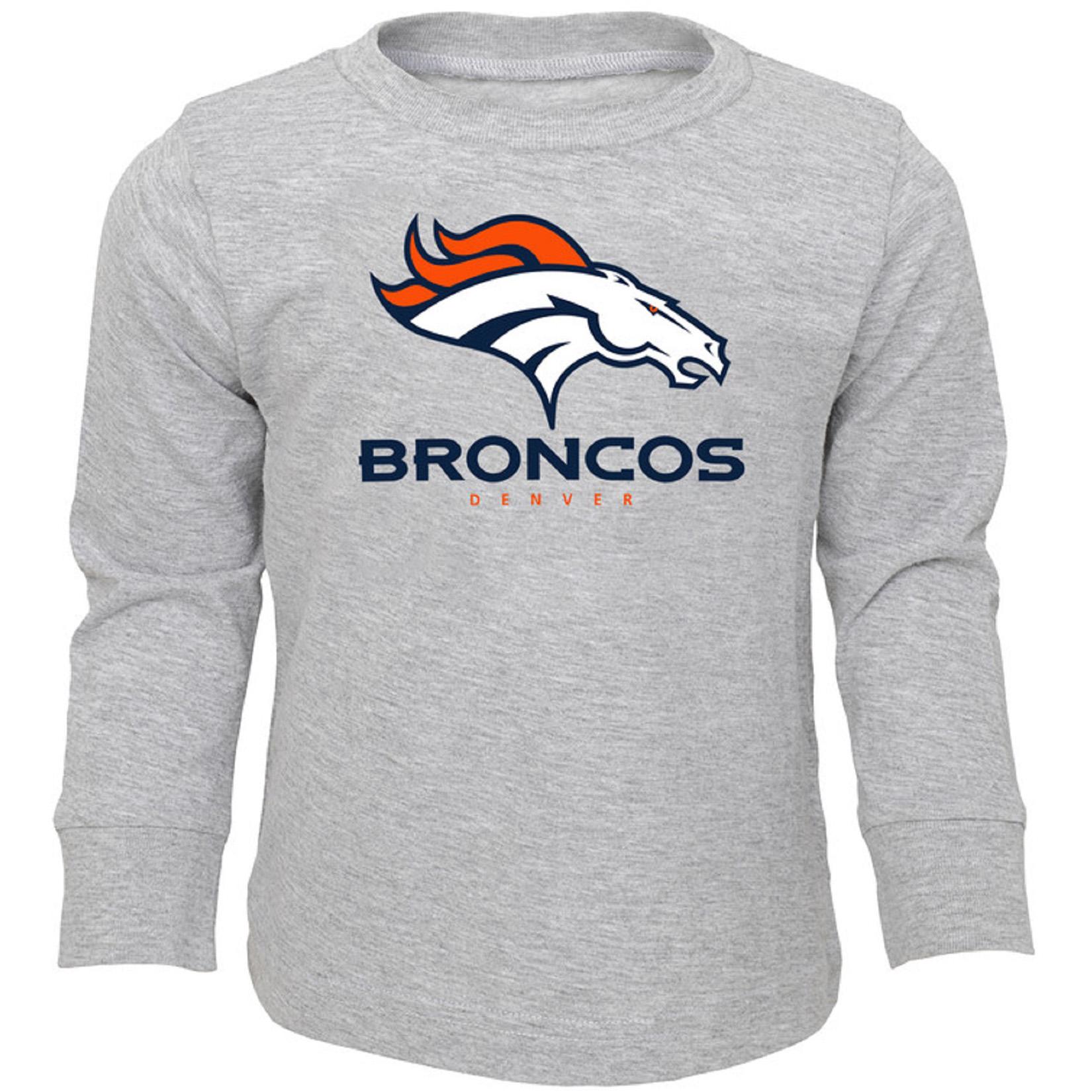 Toddler Heathered Gray Denver Broncos Team Long Sleeve T-Shirt