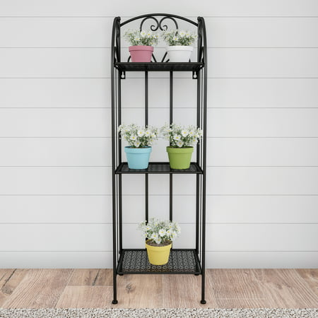 Outdoor Plant Shelves (Plant Stand– 3-Tier Vertical Shelf for Indoor or Outdoor Display by Pure Garden)