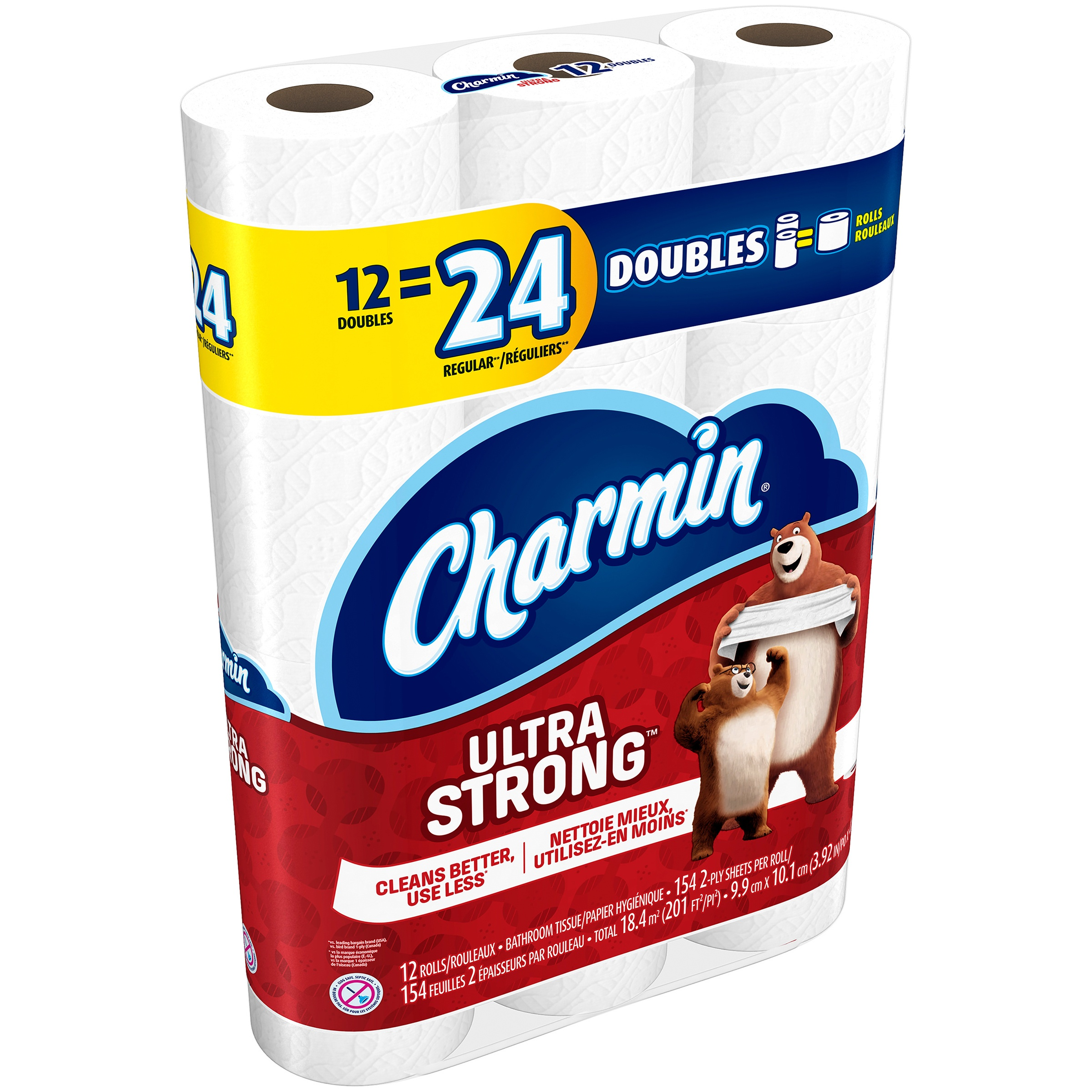 Charmin Ultra Strong Toilet Paper Double Rolls 12 CT by Procter & Gamble Company