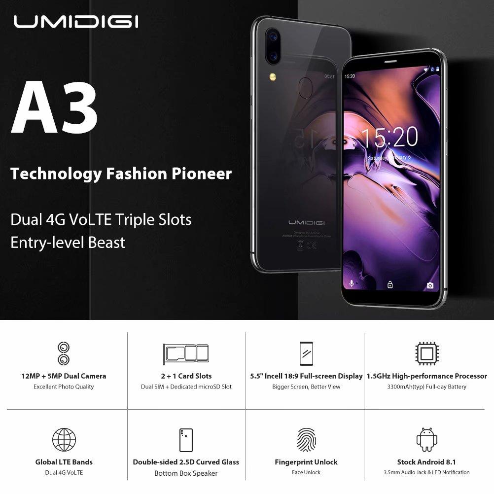 Straight Talk Smartphone,UMIDIGI A3 Unlocked Cell Phones
