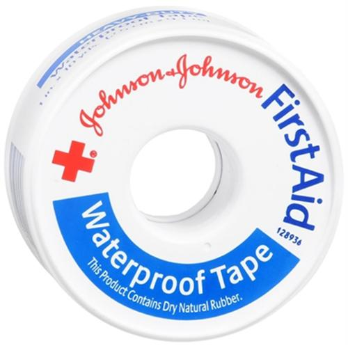 JOHNSON & JOHNSON Red Cross First Aid Waterproof Tape 1 Inch X 10 Yards 10 Yards (Pack of 2)