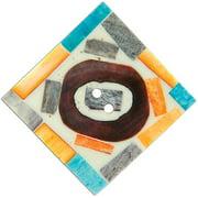 "Handmade Bone Button, 1-1/2"" Square Pain"