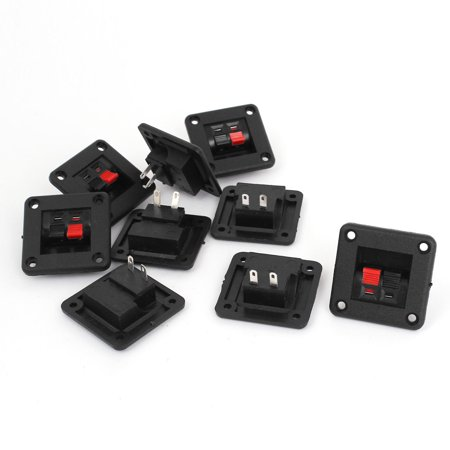 9pcs 2 Way Speaker Box Connector Terminal Binding Post Spring Clip Binding Post Connector