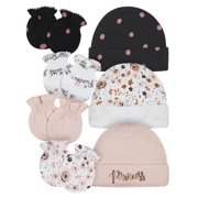 Gerber Baby Girl Organic Caps and Mittens Bundle, 7-Piece Set