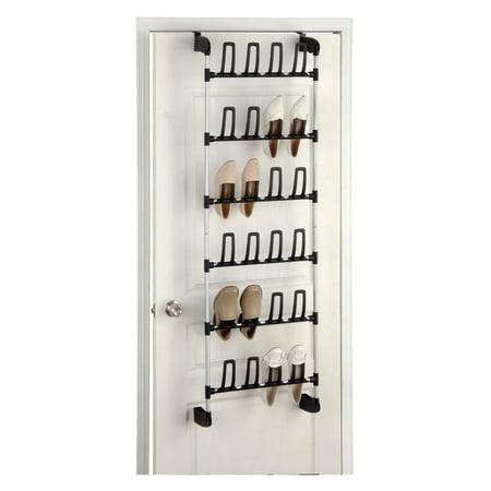 Organize It All Overdoor 12-Pair Shoe Rack