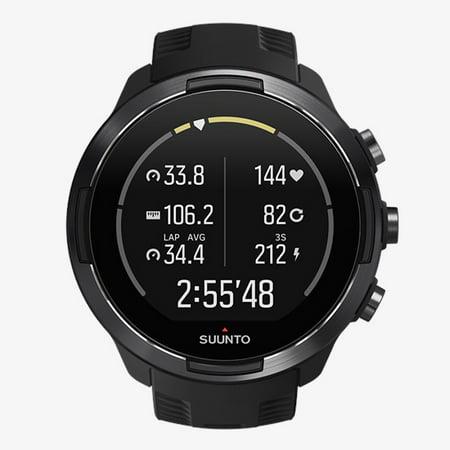 Suunto - 9 GPS Baro Multisport Watch with Heart Rate Belt - Black
