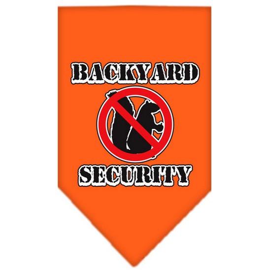 Backyard Security Screen Print Bandana Orange Large