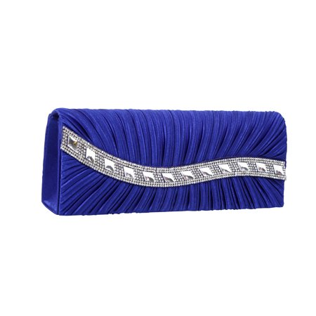 Lucky Fifty7 - Satin Hard Case Clutch Bag Encrusted with Rhinestones and  Stones - Walmart.com 64b6f6404