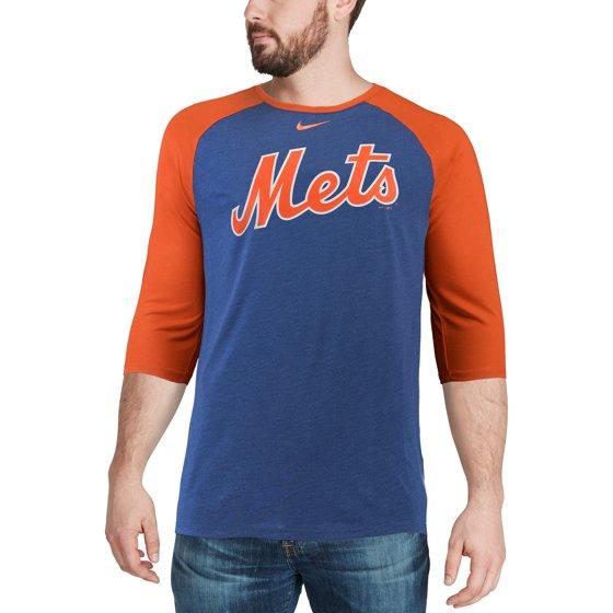 436c3a30 Nike - Men's Nike Royal New York Mets Wordmark Three-Quarter Sleeve ...