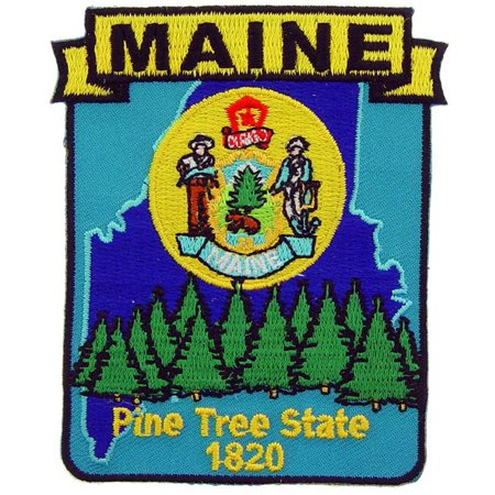 """Maine State Map Patch 3"""""""