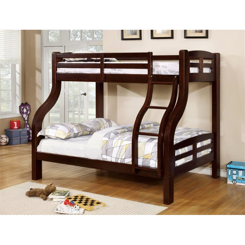 Bowery Hill Twin over Full Bunk Bed in Espresso