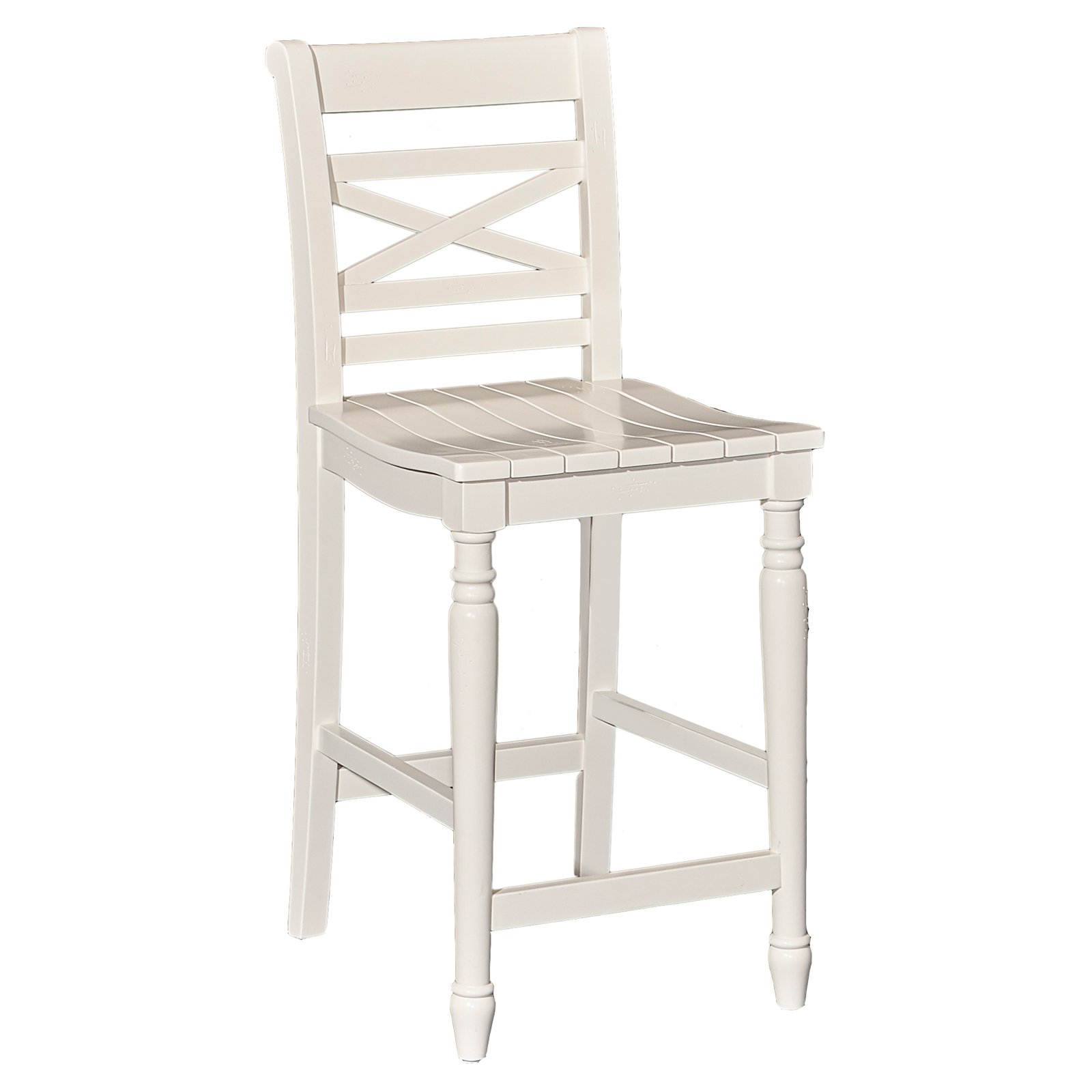 Powell Asher Counter Stool, White by Powell