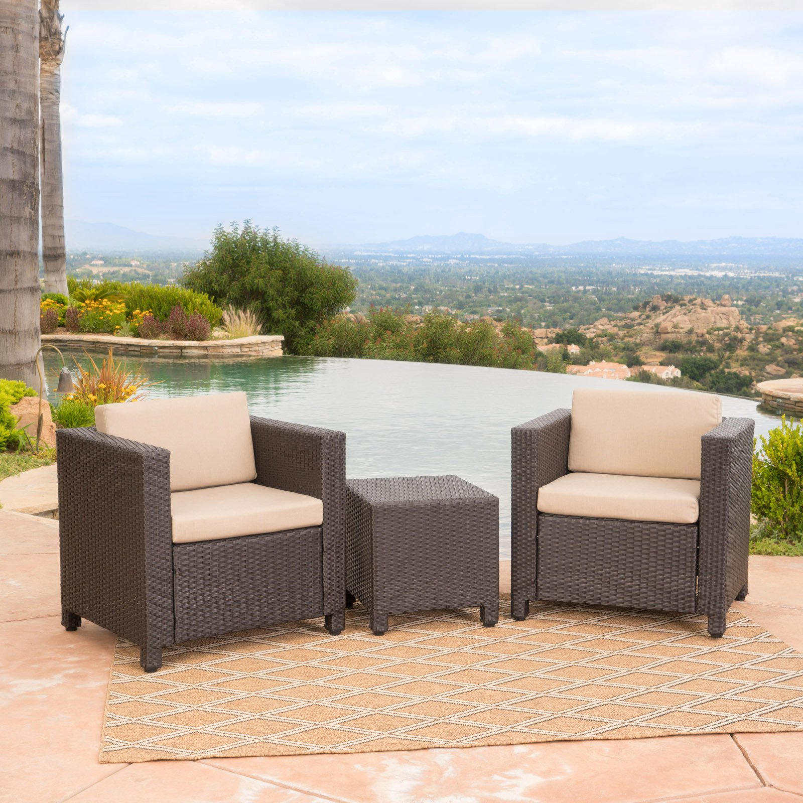 Puerta Outdoor Club Chair Set with Matching Side Table