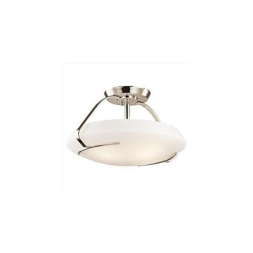 Kichler 42063PN 4 Light Semi-Flush Indoor Ceiling Fixture, Polished Nickel