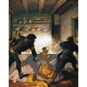 Wyeth: Robin Hood, 1917. /Nlittle John Fights With A Cook In The Sheriff'S House. Oil On Canvas, 1917, By N.C. Wyeth For An Edition Of 'Robin Hood.' Poster Print by Granger Collection