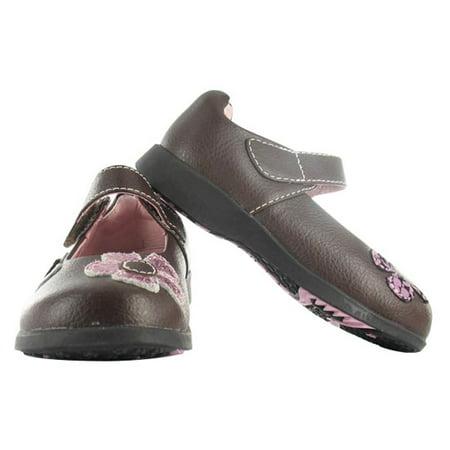 pediped Flex Abigail Sneaker (Toddler/Little Kid), Brown/Pink, 24 EU (7.5-8 M US Little