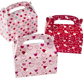 Valentine Treat Boxes - Set of 24 Heart Paper Mini Treat Boxes](Valentine Treats)