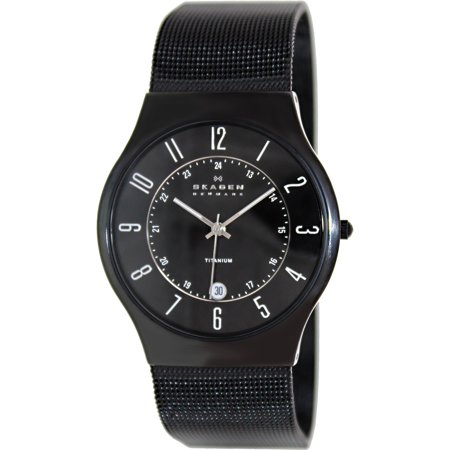 Skagen Men's Classic 233XLTMB Black Titanium Quartz Watch