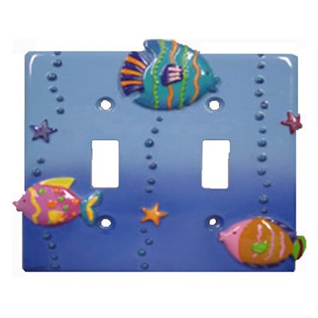 Switch Switchplate Cover (Fish Playground Decorative Switchplate Double toggle switch plate cover)