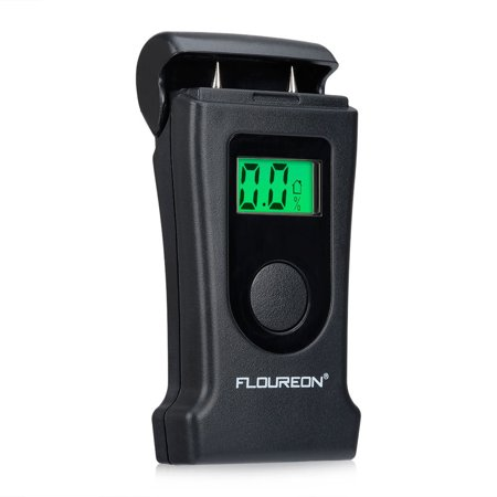Floureon Wood/Building Moisture Meter With Green Color Backlight LCD High Accuracy Temperature Humidity Controller of Wood, Carpet, Plaster, (Dark Wood Lcd)