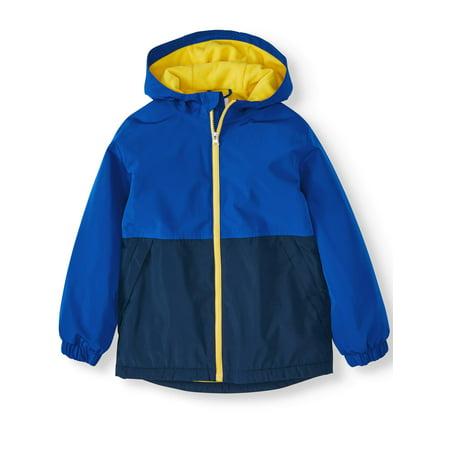Wonder Nation Fleece Lined Rain Jacket (Little Boys, Big Boys & Husky)