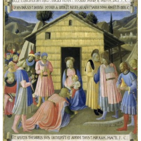 The Story of the Life of Christ Detail  Adoration of the Magi  Fra Angelico ca  Museo di San Marco Florence Poster Print - City Of San Marcos Ca