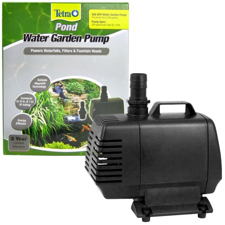 Tetra Pond Water Garden Pump Magnetic Drive Technology Submersible 550 GPH Pump