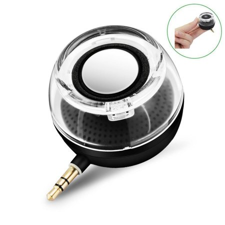 CestMall F10 Portable Compact Mini Speaker, Four Times of the Normal Volume, 3.5MM Audio Input, for iPhone Android Tablet Nevigation PSP MP3 MP4 (Best Audio Player For Android)